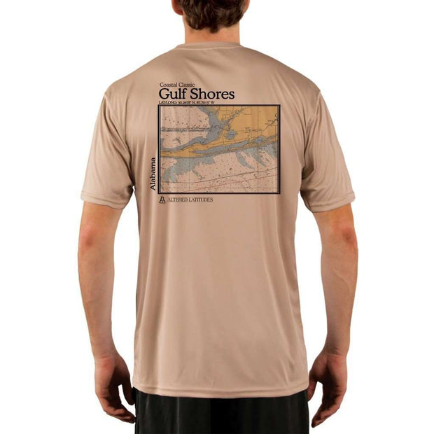 Coastal Classics Gulf Shores Mens Upf 5+ Uv/sun Protection Performance T-Shirt Tan / X-Small Shirt