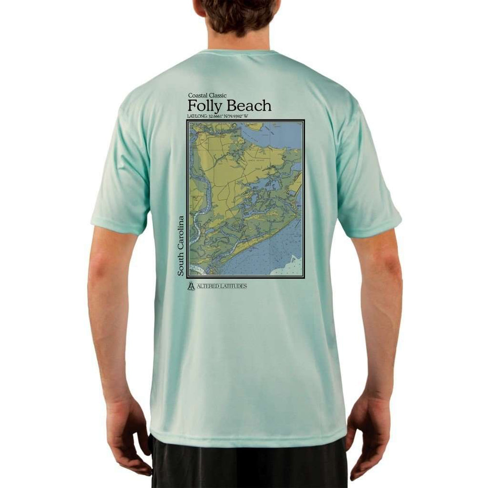Coastal Classics Folly Beach Mens Upf 5+ Uv/sun Protection Performance T-Shirt Seagrass / X-Small Shirt
