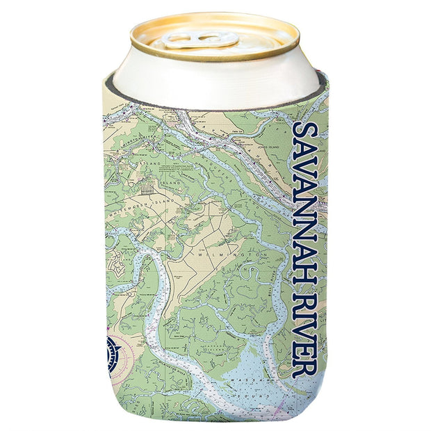 Altered Latitudes Savannah River Chart Standard Can Cooler (4-Pack)