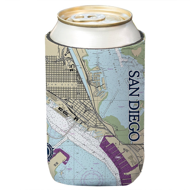 Altered Latitudes San Diego, CA Chart Standard Can Cooler (4-Pack)