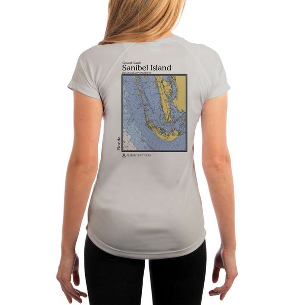 Coastal Classics Sanibel Island Womens Upf 5+ Uv/sun Protection Performance T-Shirt Pearl Grey / X-Small Shirt