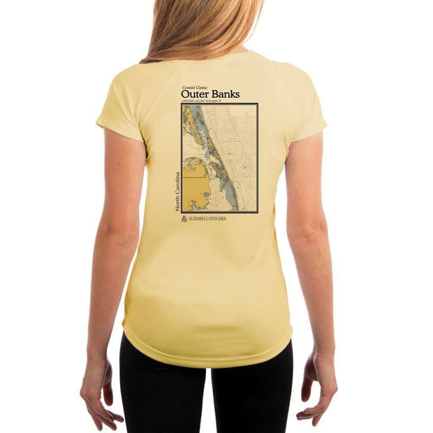 Coastal Classics Outer Banks Womens Upf 5+ Uv/sun Protection Performance T-Shirt Pale Yellow / X-Small Shirt