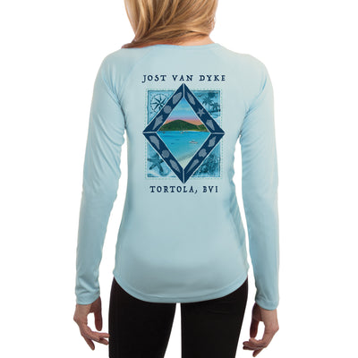 Coastal Quads Jost Van Dyke Women's UPF 50+ Long Sleeve T-shirt