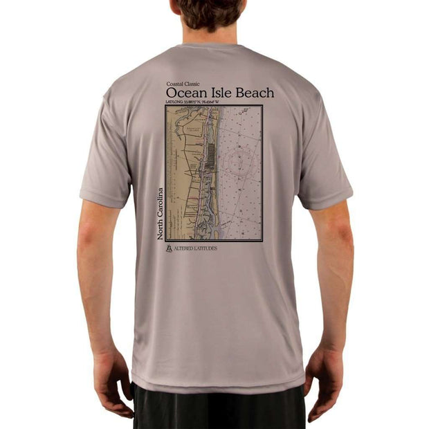 Coastal Classics Ocean Isle Beach Mens Upf 5+ Uv/sun Protection Performance T-Shirt Athletic Grey / X-Small Shirt
