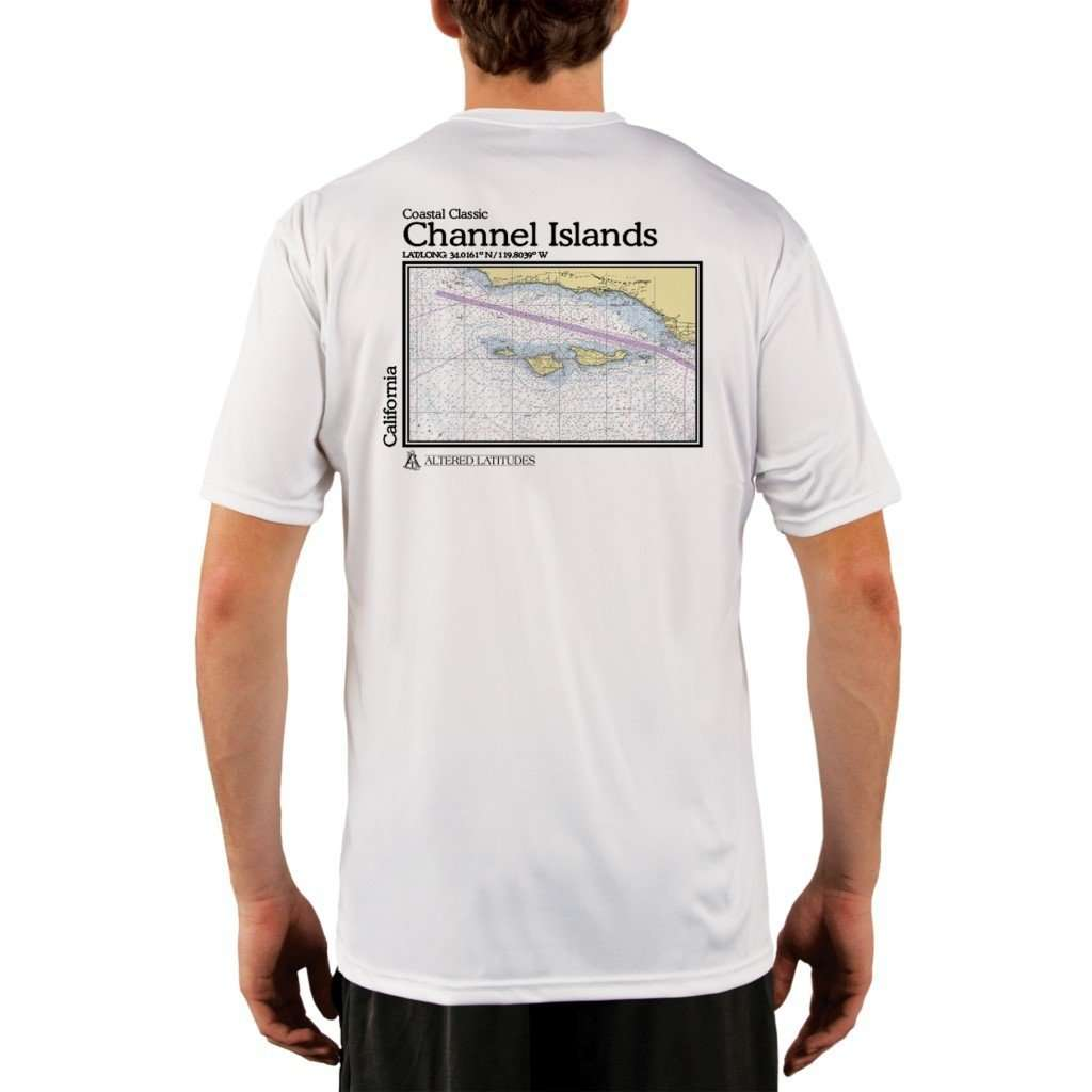 Coastal Classics Channel Islands Mens Upf 50+ Uv/sun Protection Performance T-Shirt White / X-Small Shirt