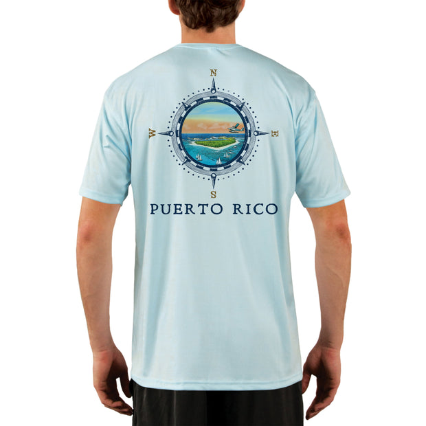 Compass Vintage Puerto Rico Men's UPF 50+ Short Sleeve T-shirt