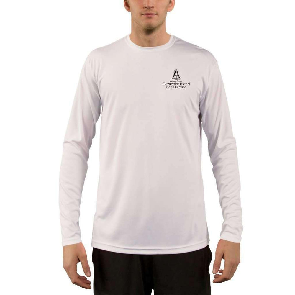 Coastal Classics Ocracoke Island Mens Upf 5+ Uv/sun Protection Performance T-Shirt Shirt