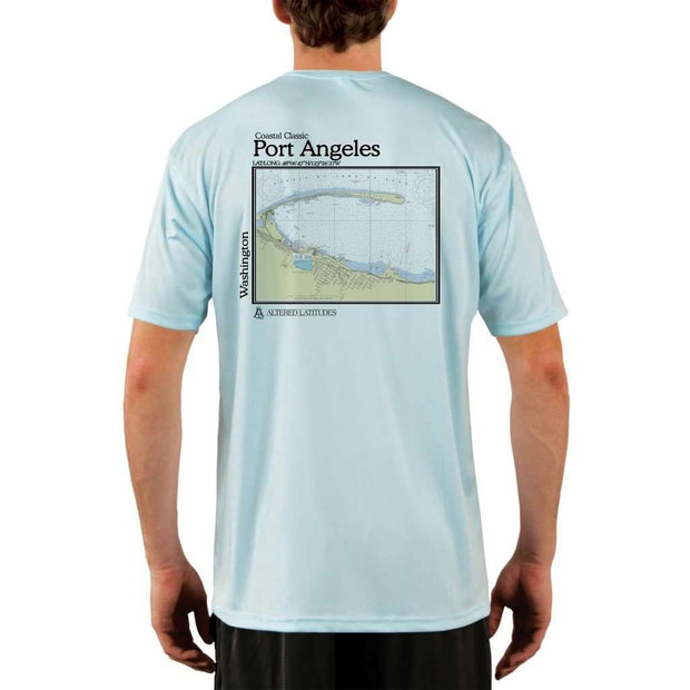 Coastal Classics Port Angeles Mens Upf 5+ Uv/sun Protection Performance T-Shirt Arctic Blue / X-Small Shirt
