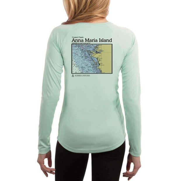 Coastal Classics Anna Maria Island Womens Upf 5+ Uv/sun Protection Performance T-Shirt Seagrass / X-Small Shirt
