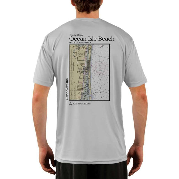 Coastal Classics Ocean Isle Beach Mens Upf 5+ Uv/sun Protection Performance T-Shirt Pearl Grey / X-Small Shirt