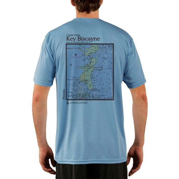 Coastal Classics Key Biscayne Mens Upf 5+ Uv/sun Protection Performance T-Shirt Columbia Blue / X-Small Shirt