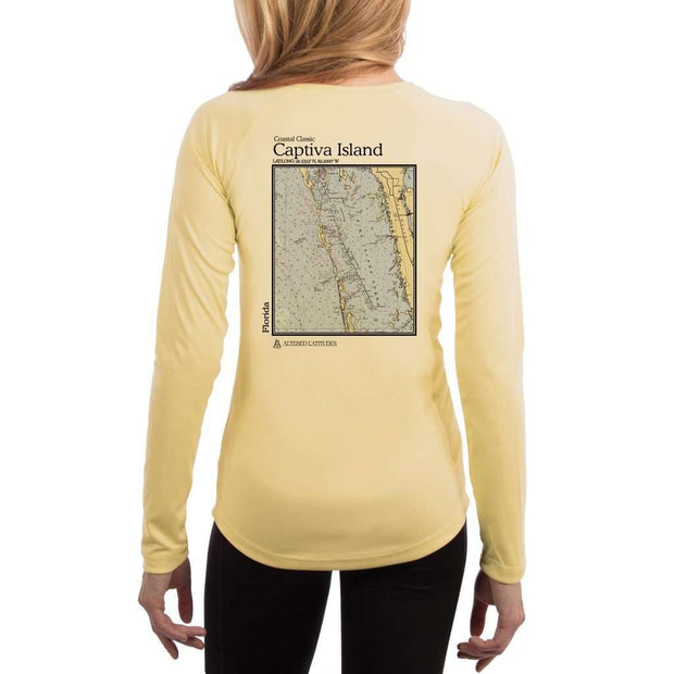 Coastal Classics Captiva Island Womens Upf 5+ Uv/sun Protection Performance T-Shirt Pale Yellow / X-Small Shirt