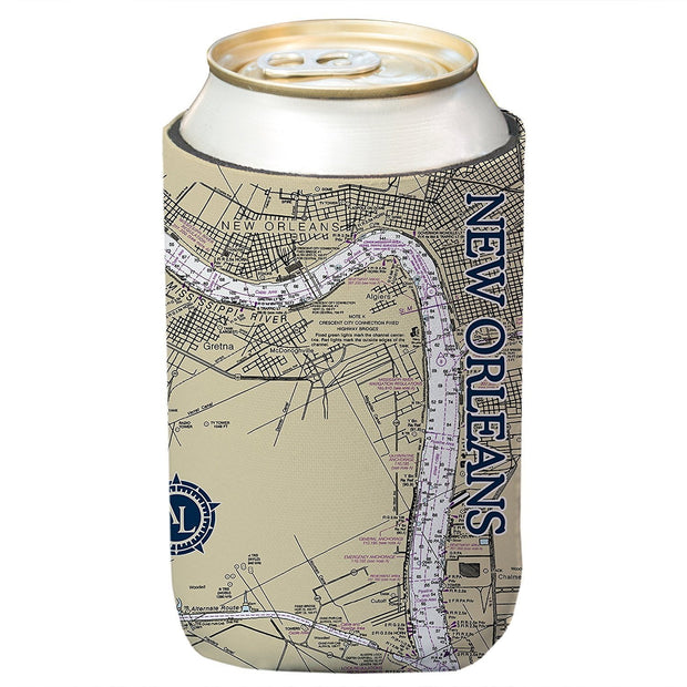 Altered Latitudes New Orleans Chart Standard Can Cooler (4-Pack)