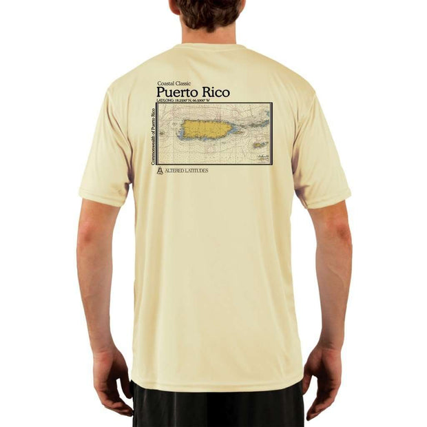 Coastal Classics Puerto Rico Mens Upf 5+ Uv/sun Protection Performance T-Shirt Pale Yellow / X-Small Shirt