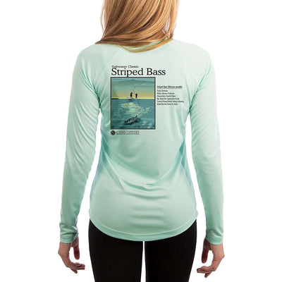 Saltwater Classic Striped Bass Women's UPF 50+ Long Sleeve T-shirt