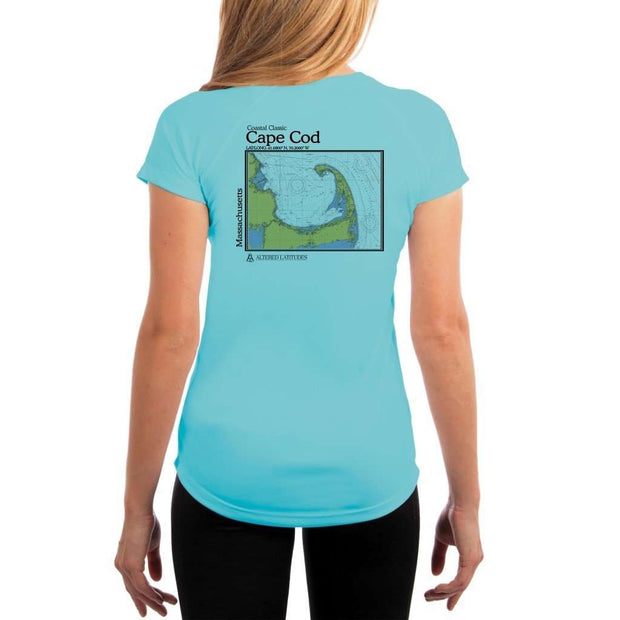 Coastal Classics Cape Cod Womens Upf 5+ Uv/sun Protection Performance T-Shirt Water Blue / X-Small Shirt