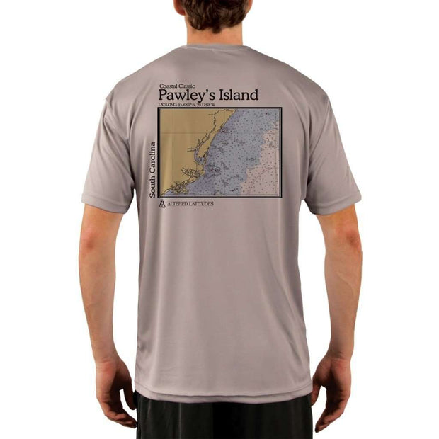 Coastal Classics Pawleys Island Mens Upf 5+ Uv/sun Protection Performance T-Shirt Athletic Grey / X-Small Shirt