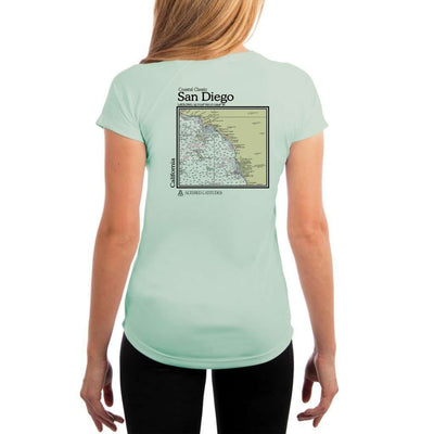 Coastal Classics San Diego Womens Upf 5+ Uv/sun Protection Performance T-Shirt Seagrass / X-Small Shirt