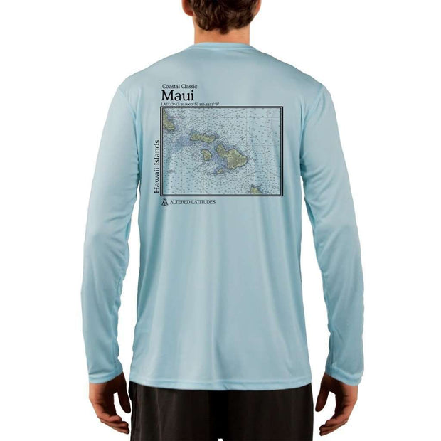 Coastal Classics Maui Mens Upf 5+ Uv/sun Protection Performance T-Shirt Arctic Blue / X-Small Shirt