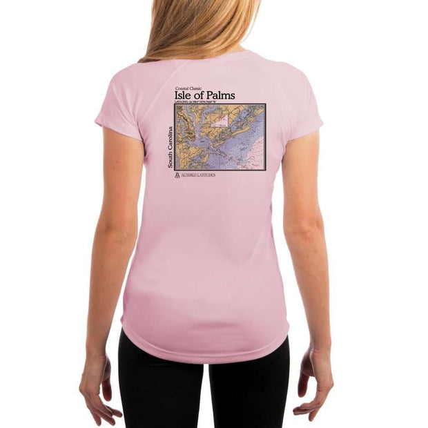 Coastal Classics Isle Of Palms Womens Upf 5+ Uv/sun Protection Performance T-Shirt Pink Blossom / X-Small Shirt