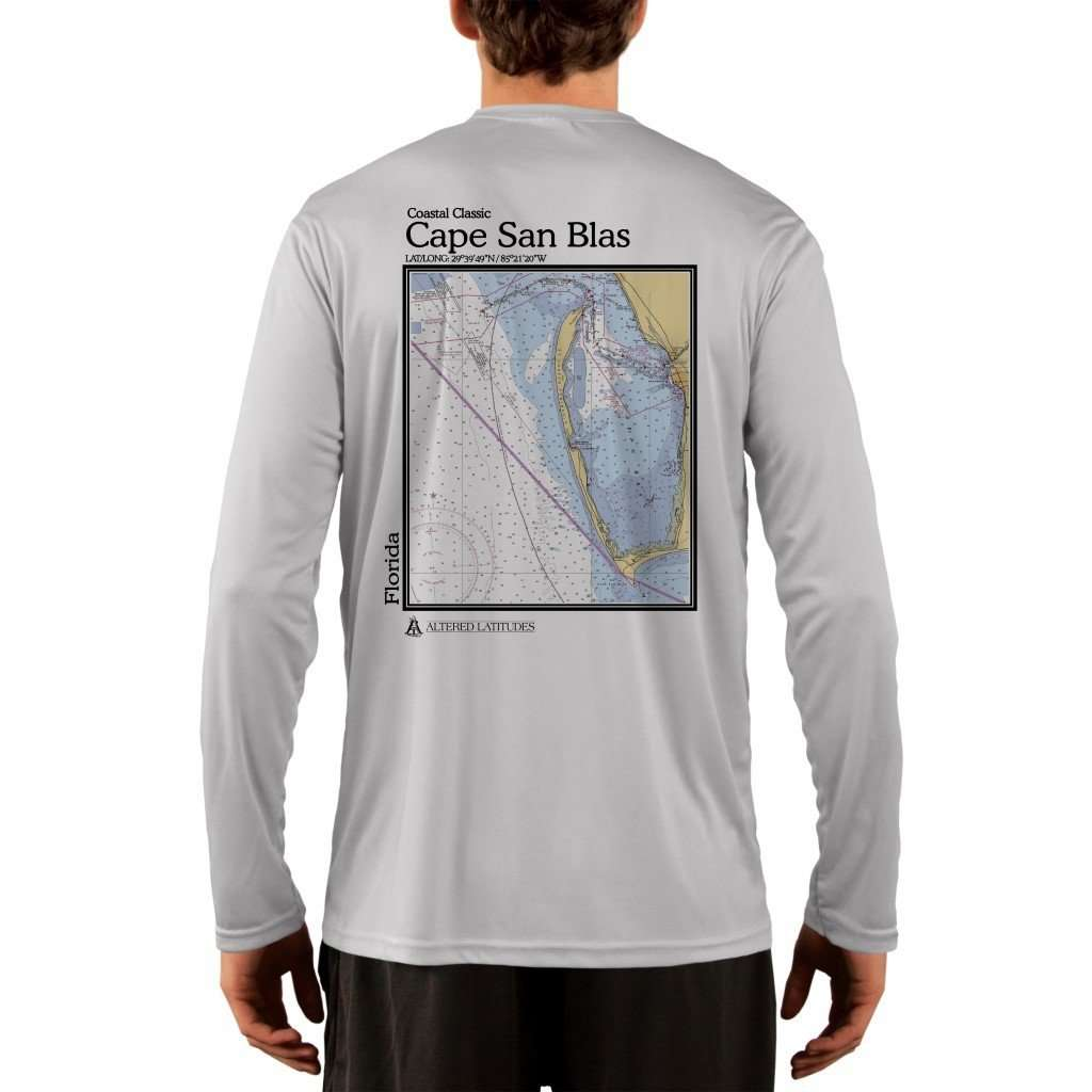 Coastal Classics Cape San Blas Mens Upf 50+ Uv/sun Protection Performance T-Shirt Pearl Grey / X-Small Shirt