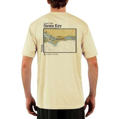 Coastal Classics Siesta Key Mens Upf 5+ Uv/sun Protection Performance T-Shirt Pale Yellow / X-Small Shirt