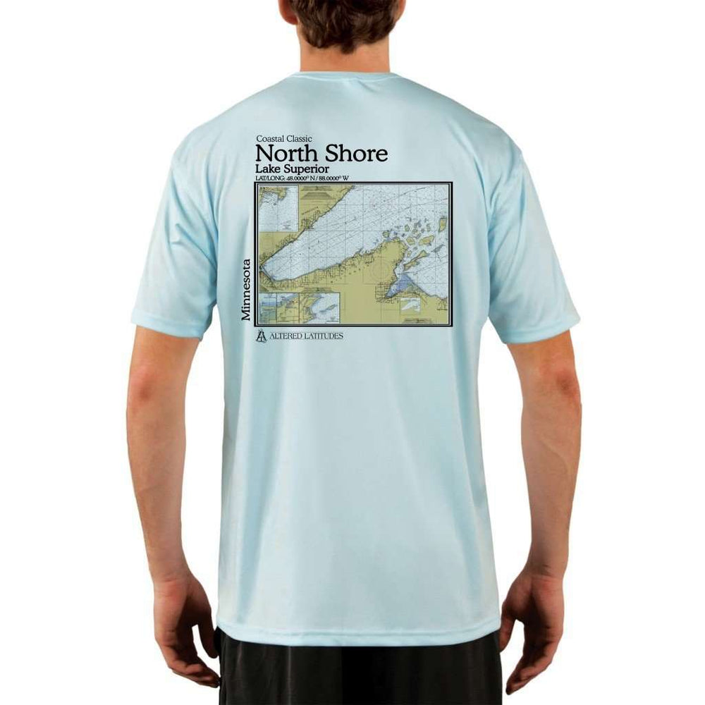 Coastal Classics North Shore Mens Upf 5+ Uv/sun Protection Performance T-Shirt Arctic Blue / X-Small Shirt