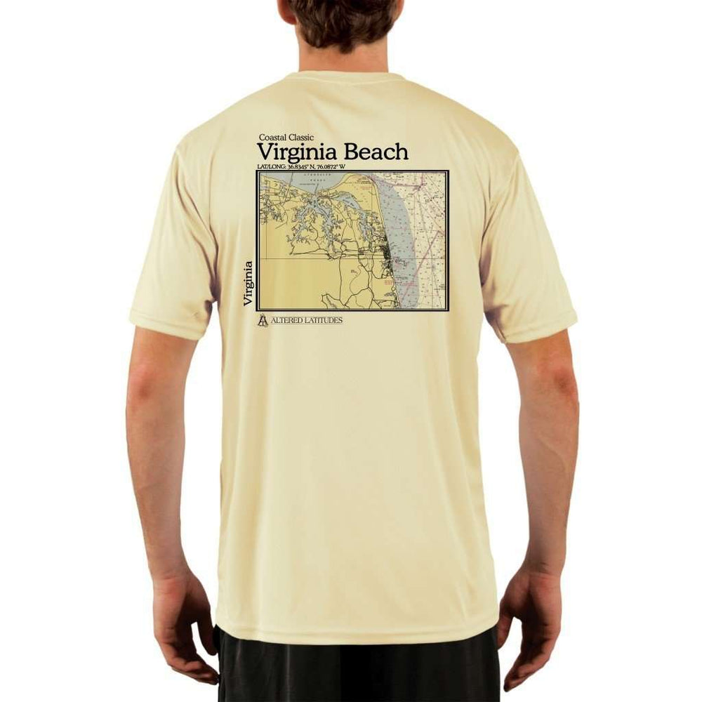 Coastal Classics Virginia Beach Mens Upf 5+ Uv/sun Protection Performance T-Shirt Pale Yellow / X-Small Shirt