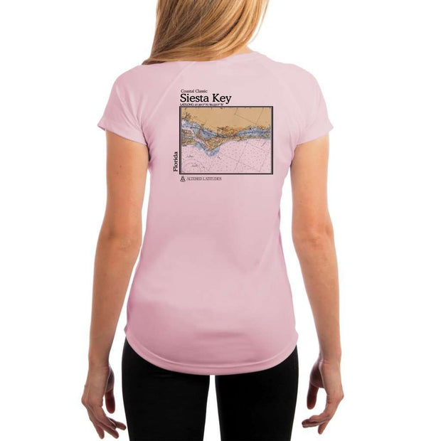 Coastal Classics Siesta Key Womens Upf 5+ Uv/sun Protection Performance T-Shirt Pink Blossom / X-Small Shirt