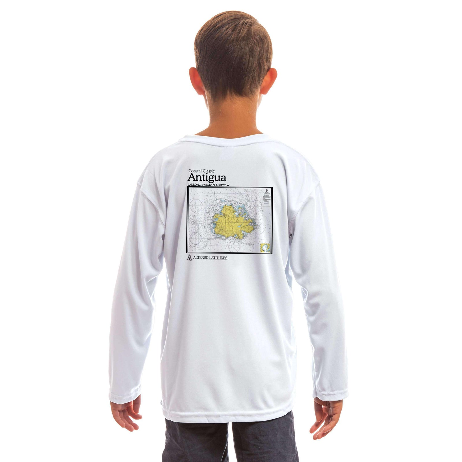 Coastal Classics Antigua Youth UPF 5+ UV/Sun Protection Long Sleeve T-Shirt - Altered Latitudes