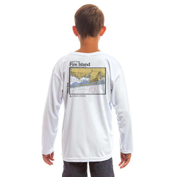 Coastal Classics Fire Island Youth UPF 50+ UV/Sun Protection Long Sleeve T-Shirt