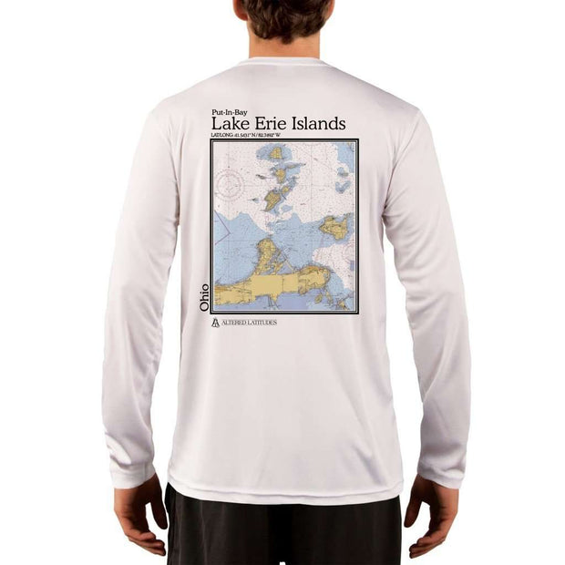 Coastal Classics Lake Erie Islands Mens Upf 5+ Uv/sun Protection Performance T-Shirt White / X-Small Shirt