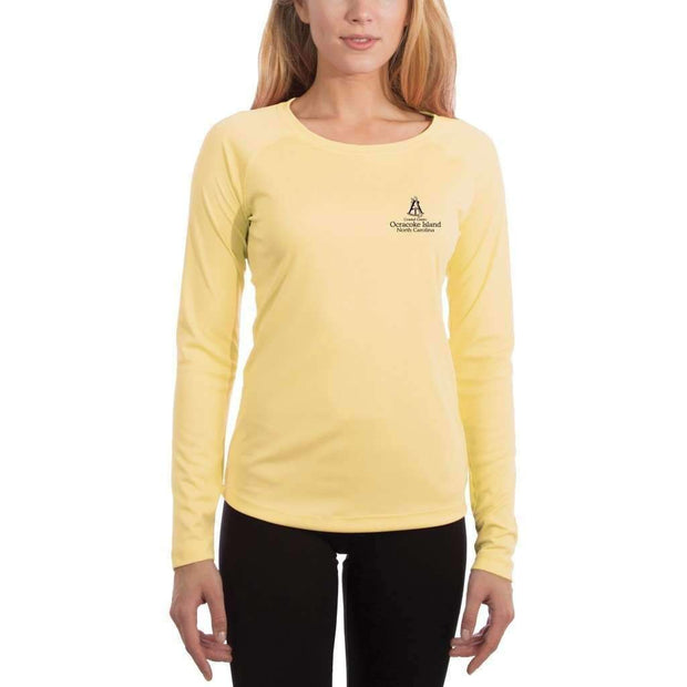 Coastal Classics Ocracoke Island Womens Upf 5+ Uv/sun Protection Performance T-Shirt Shirt