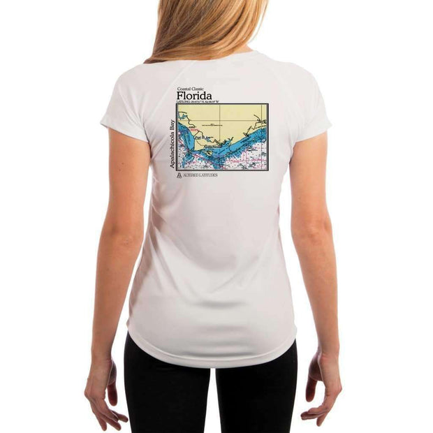 Coastal Classics Apalachicola Bay Womens Upf 5+ Uv/sun Protection Performance T-Shirt White / X-Small Shirt