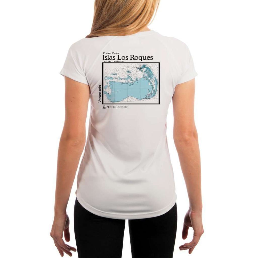 Coastal Classics Islas Los Roques Womens Upf 5+ Uv/sun Protection Performance T-Shirt White / X-Small Shirt