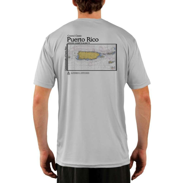 Coastal Classics Puerto Rico Mens Upf 5+ Uv/sun Protection Performance T-Shirt Pearl Grey / X-Small Shirt