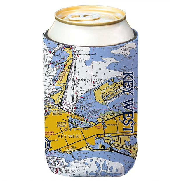 Altered Latitudes Key West Chart Standard Beverage Cooler (4-Pack)