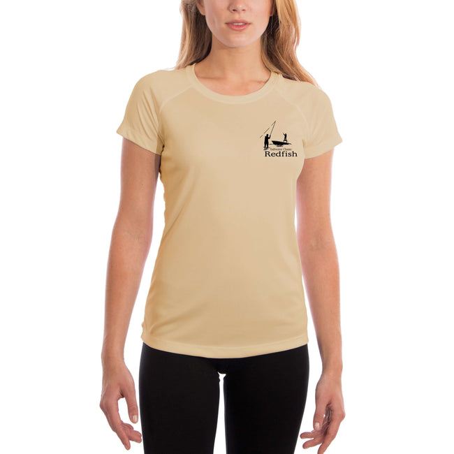 Saltwater Classic Redfish Women's UPF 50+ UV/Sun Protection Short Sleeve T-Shirt