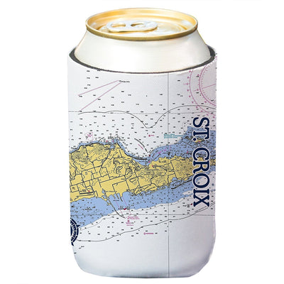 Altered Latitudes St. Croix Chart Standard Beverage Cooler (4-Pack)