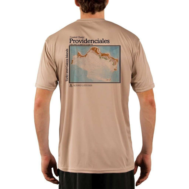 Coastal Classics Providenciales Mens Upf 5+ Uv/sun Protection Performance T-Shirt Tan / X-Small Shirt