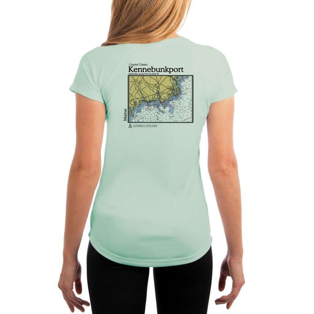 Coastal Classics Kennebunkport Womens Upf 5+ Uv/sun Protection Performance T-Shirt Seagrass / X-Small Shirt