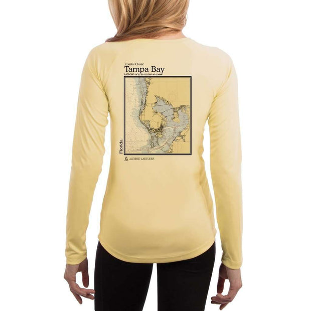 Coastal Classics Tampa Bay Womens Upf 5+ Uv/sun Protection Performance T-Shirt Pale Yellow / X-Small Shirt