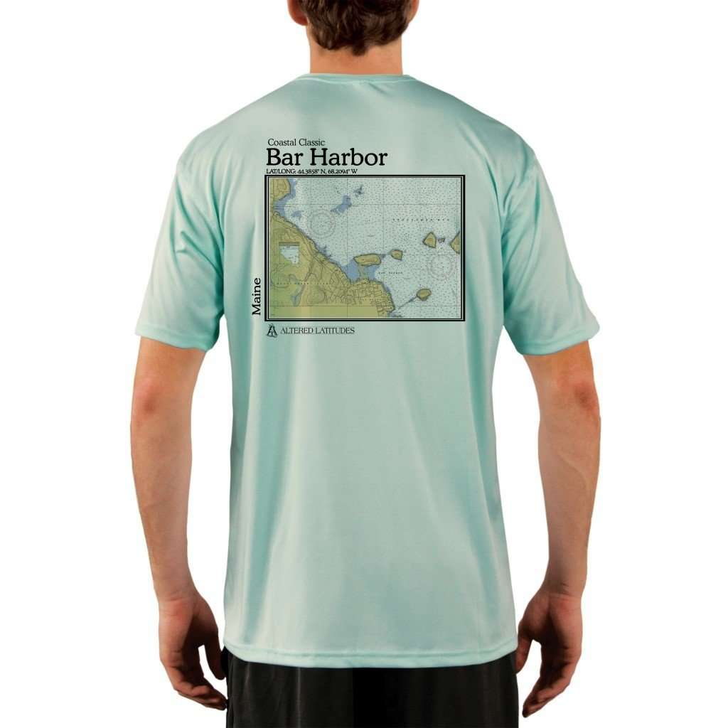 Coastal Classics Bar Harbor Mens Upf 50+ Uv/sun Protection Performance T-Shirt Seagrass / X-Small Shirt