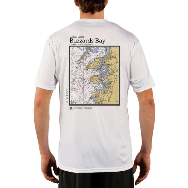 Coastal Classics Buzzards Bay Mens Upf 5+ Uv/sun Protection Performance T-Shirt White / X-Small Shirt