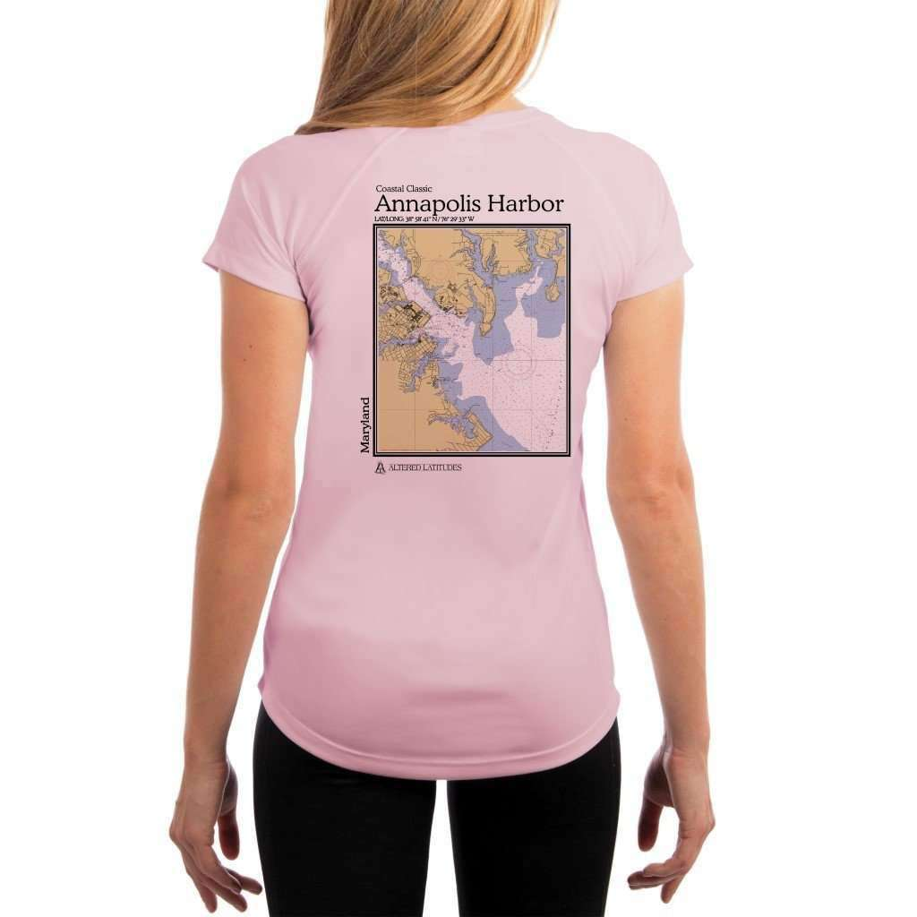 Coastal Classics Annapolis Harbor Womens Upf 50+ Uv/sun Protection Performance T-Shirt Pink Blossom / X-Small Shirt
