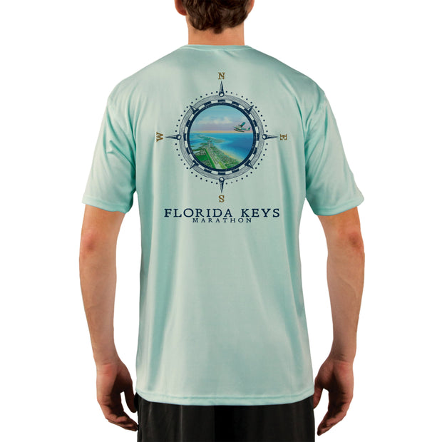 Compass Vintage Florida Keys Men's UPF 50+ Short Sleeve T-shirt