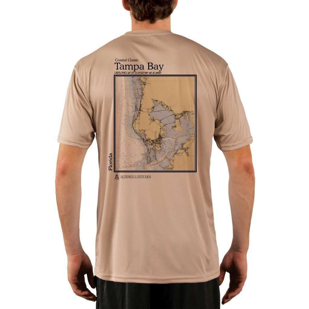 Coastal Classics Tampa Bay Mens Upf 5+ Uv/sun Protection Performance T-Shirt Tan / X-Small Shirt