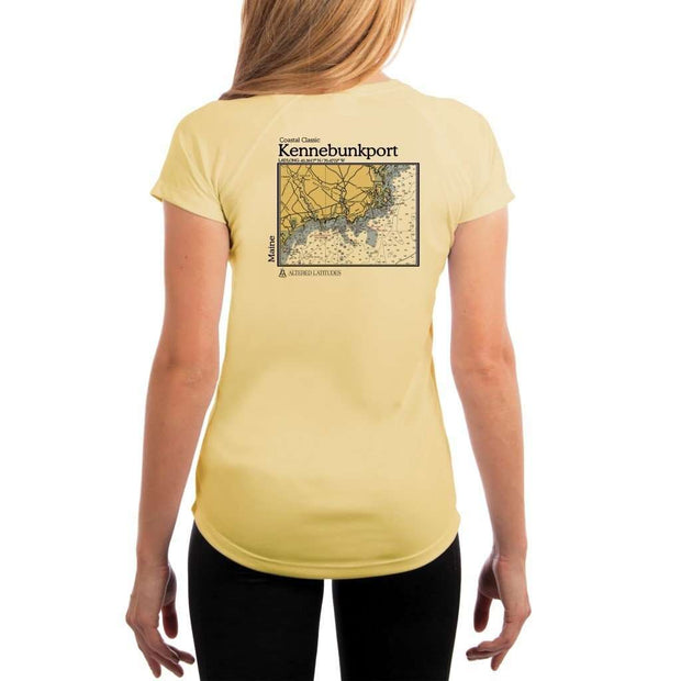 Coastal Classics Kennebunkport Womens Upf 5+ Uv/sun Protection Performance T-Shirt Pale Yellow / X-Small Shirt