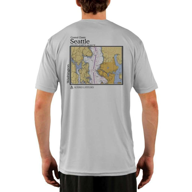 Coastal Classics Seattle Mens Upf 5+ Uv/sun Protection Performance T-Shirt Pearl Grey / X-Small Shirt