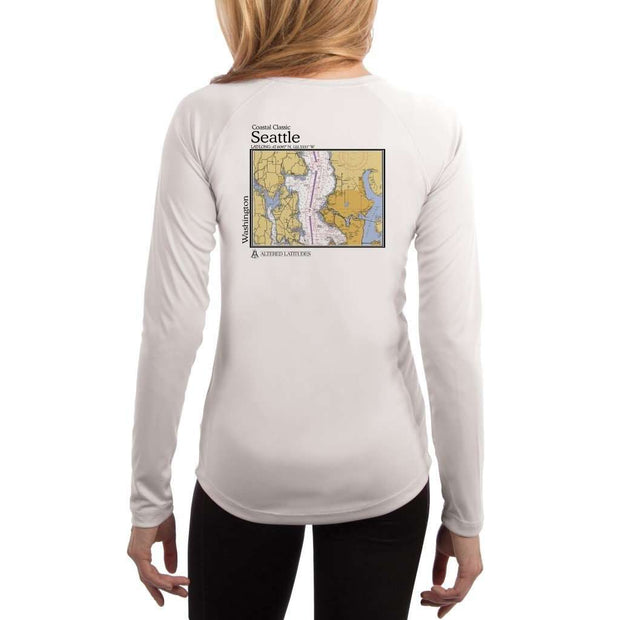 Coastal Classics Seattle Womens Upf 5+ Uv/sun Protection Performance T-Shirt White / X-Small Shirt